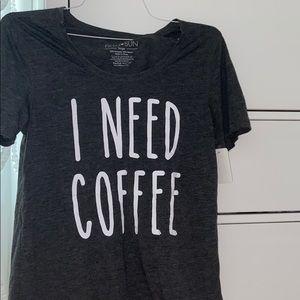 I Need Coffee Soft Graphic Tee